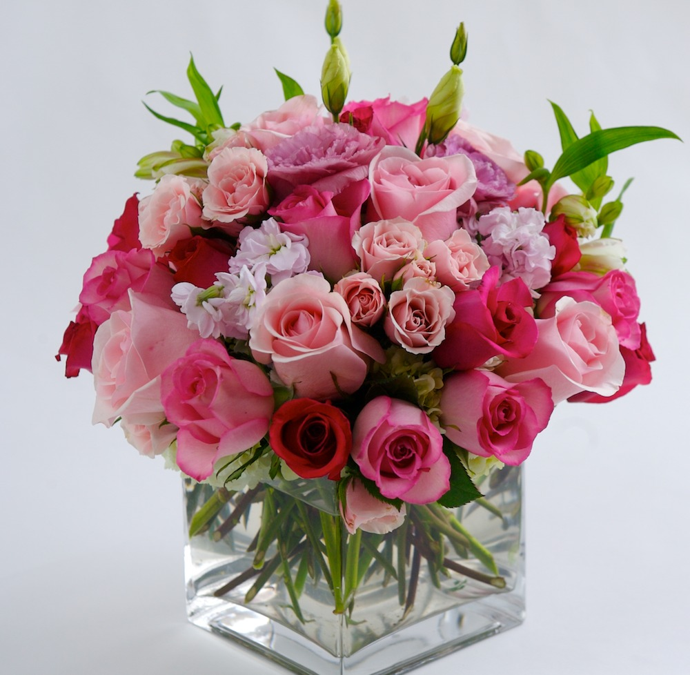 Mixed Rose Wedding Centerpiece